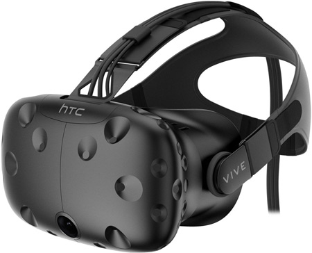 HTC vibe virtual reality glasses that fit over glasses