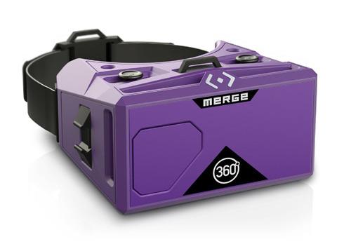 Merge Virtual reality headset using glasses