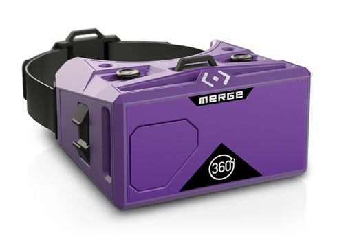 Merge Virtual reality headset using glasses