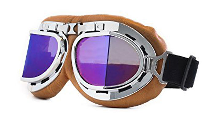Vintage goggles for motorcycle