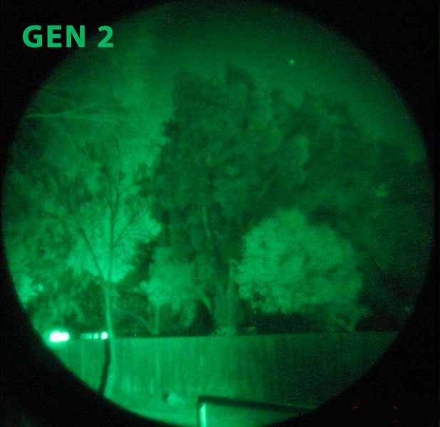 Gen II night vision glasses example