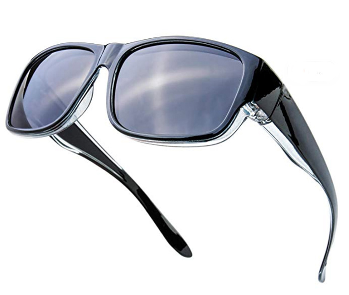 The Fresh polarized sunglasses over glasses